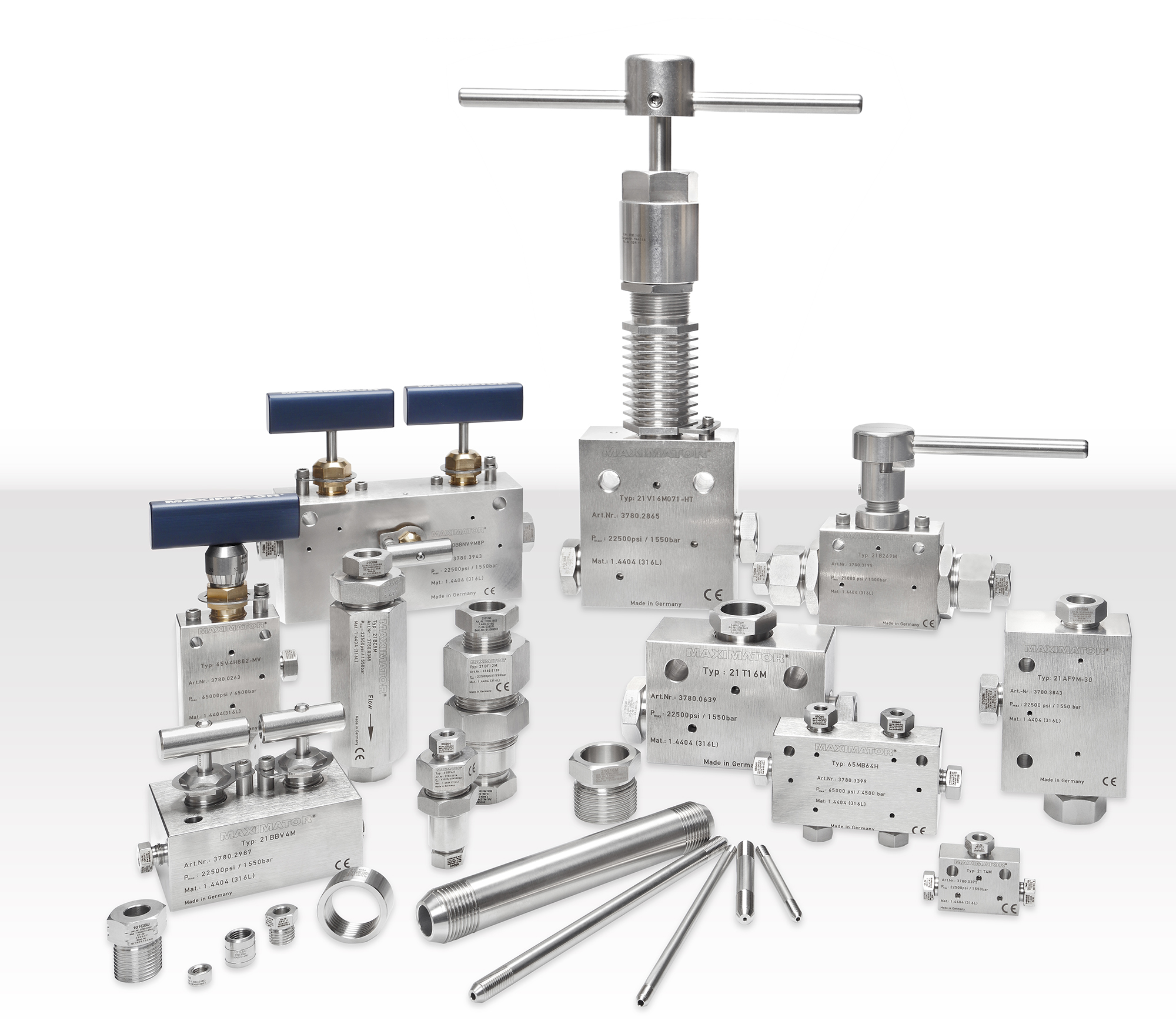 Maximator Valves Fittings and Tubings